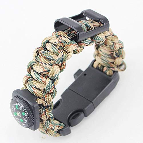 AYUE®Pierrafeu Sifflet Boucle Couteau Rotatif Corde De Parapluie Tissage Bracelet avec Décapsuleur