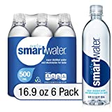 smartwater vapor distilled premium water bottles, 16.9 fl oz, 6 Pack