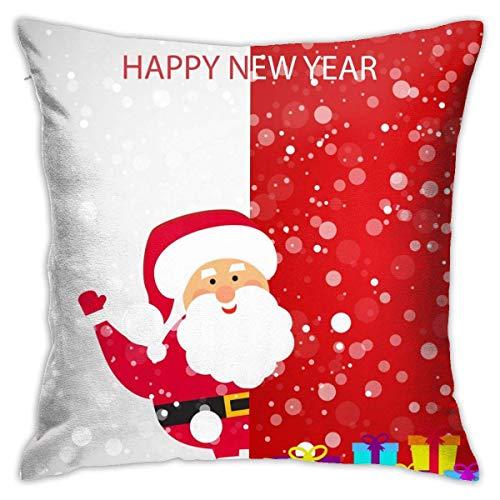 ETGeed Weihnachtsmann mit großen Grußkarten-Kissenbezügen Hüllen, weiches Kissen für Sofa Home Couch Auto Dekoration, 18x18Zoll