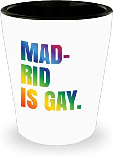 Madrid Gay Shot Glass Mug LGBT Spain Gift