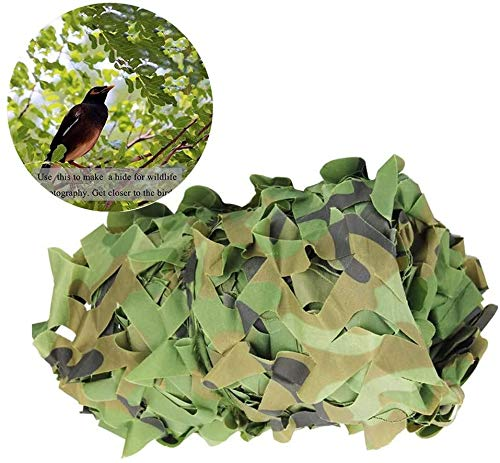 LWW Sunshade Net, Woodland Camouflage Net, Shade Cloth, Garden Decoration Net, Outdoor Thickened Anti-ultraviolet Sunscreen Decoration, Camouflage Mesh, Carport Covering Net 4x5m, Green