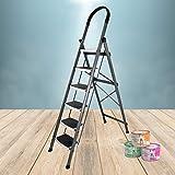 Plantex High Grade Heavy Steel Folding 6 Step Ladder for Home - 6