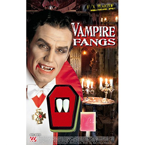 NET TOYS Professionelle Vampireckzähne zum Ankleben