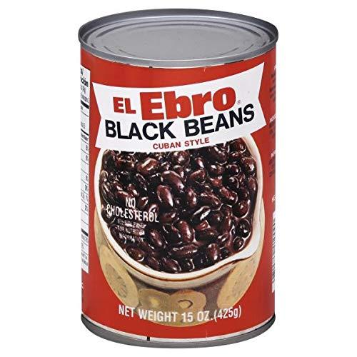 El Ebro Black beans Cuban Style 15oz ( Pk of 3 )