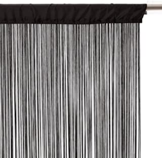 Eminza - Cortina de hilos (90 cm), color negro