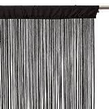 Rideau fil (L90) Noir