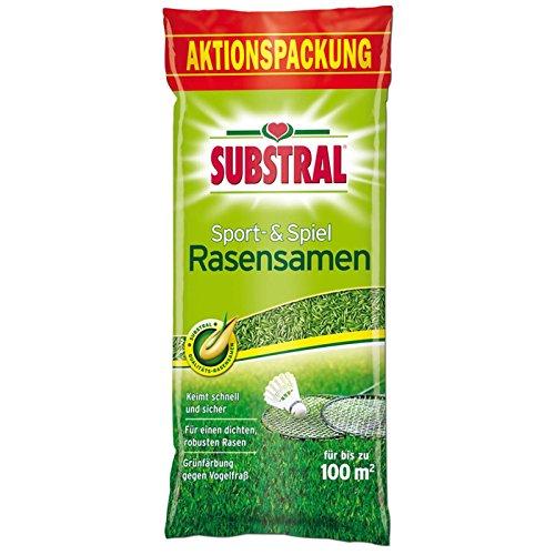 Substral 8694 Rasensaat Rasensamen Sport & Spiel, 2 kg für 100 m²