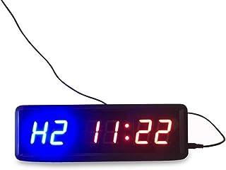 Fitness Training Timer 3,5 cm hög karaktär nedräkningsklocka fjärrkontroll drift hem gym fitness klocka väggmontering (fär...