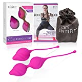 IntiFit Kegel Weights for Women - Premium Silicone Kegel Exercise Products for Bladder Control - Ben Wa Kegel Balls for Tightening with Exclusive Inti Fit Comfort First Design