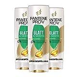 Pantene Pro-V Glatt&Seidig Pflegespülung Für Widerspenstiges Haar, 3er Pack (3 x 200 ml),...