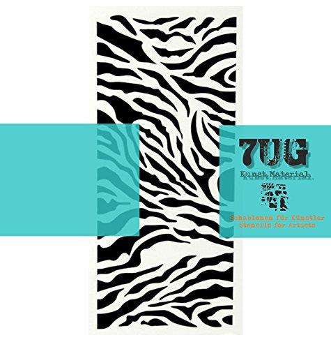 7UG Designer Schablone Animalprint/Zebra für Mixed Media Künstler
