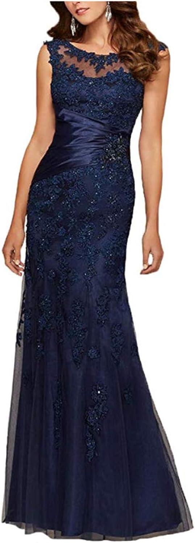 GFDress Women's Cap Sleeve Applique Formal Prom Dress Long Mother of The Bride Dress
