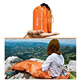 AMOYON Emergency Bivy Sack, Survival Sleeping Bag Emergency Blanket Lightweight and Compact Survival...