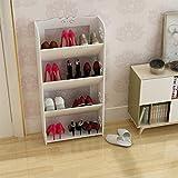 Ranura de calzado ajustable Organizador de zapatos Estante de zapatos Estante de zapatos de 4 pisos Estante de pie de 80 cm de alto rango de zapatos de madera, ideal para la entrada de la habitación S