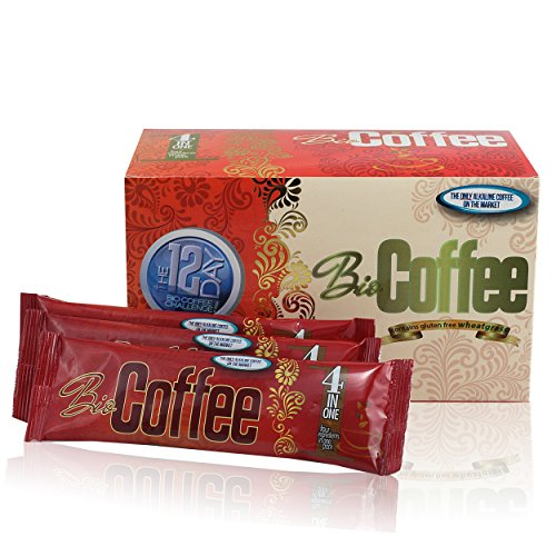 Bio Coffee- First Organic Instant Non-dairy Alkaline Coffee (3 Boxes)