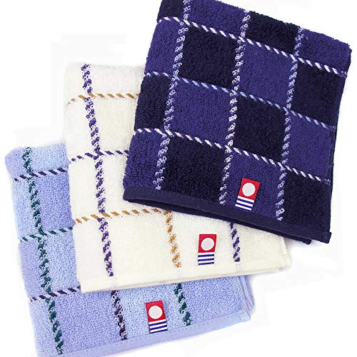 【チェック柄3枚セット】今治タオル ハンカチ おしゃれなジャカード 日本製 ギフト プレゼント
