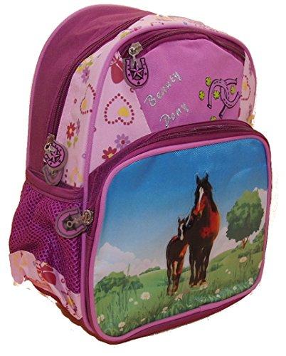 Stefano STEFANO Kinder Reisegepäck Trolley Kitatasche Rucksack Brustbeutel 4 TLG. Set Pony/Pferd pink rosa -präsentiert von RabamtaGO®- (Rucksack)