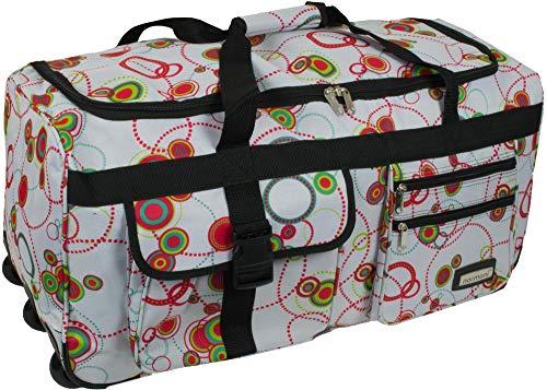 normani Leichte XXL Reisetasche Rollenreisetasche Trolley Sporttasche mit Rollen Farbe Circle Größe 80 Liter