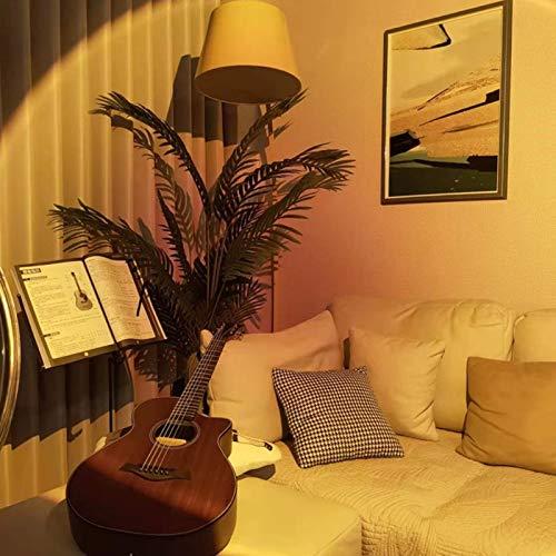 KMILE Luz de piso de proyección giratoria, sol, arco iris, decoración de fiesta, luz nocturna, fondo de pared (color: puesta del sol)