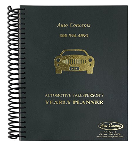 Auto Concepts Automotive Salesperson Yearly Planner