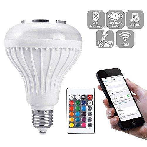 nabati Bluetooth Sans Fil Ampoule Musique Orateur Smart E27 LED RGB Lampe Ampoule Lecteur de Musique