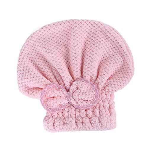 Bonnet pour cheveux secs, foulard adulte, bonnet de douche bowknot mignon, épais, absorbant, doux, sans peluche ni couleur, peut rapidement sécher les