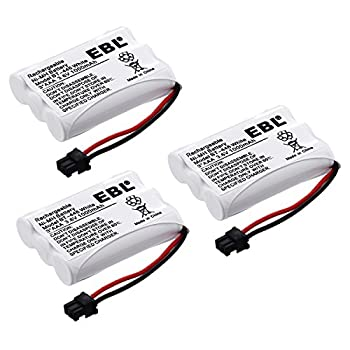 EBL BT-446 Rechargeable Cordless Phone Replacement Batteries for BT-446 BT-1005 BT1005 3.6V 1000mAh NiMH  Pack of 3