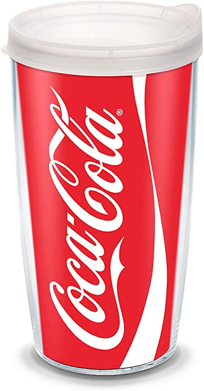 Tervis 1069674 Coca Cola Coke Can Tumbler With Wrap And Frosted Lid 16oz Clear