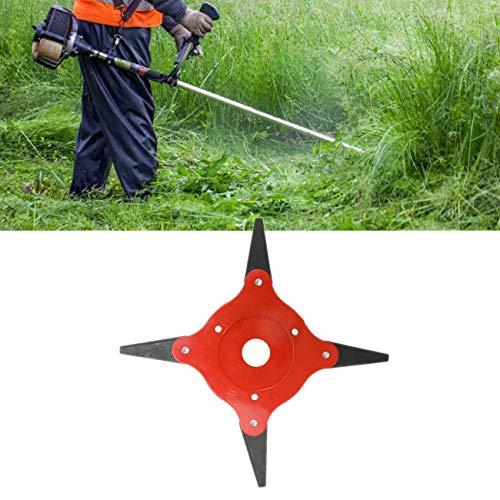 4 lames tête de coupe tondeuse à gazon brosse 65Mn brosse à mauvaises herbes tête de coupe accessoires pour outils électriques de jardin pour tondeuse à gazon