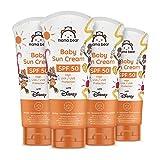 Mama Bear - Disney - Crema solar para bebé FPS 50 (Alta protección UVA / UVB) - Paquete de 4 x 100ml
