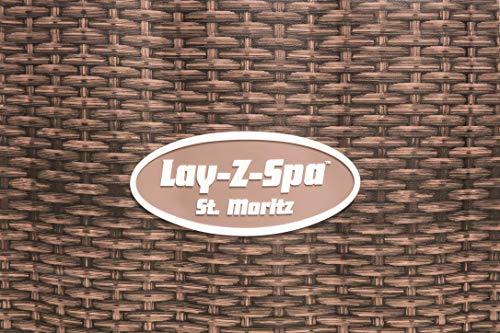 Bestway Lay-Z-Spa Saint Moritz Air-Jet Whirlpool, braun, 216 x 216 x 71 cm