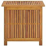 Tidyard Gartenbox Auflagenbox Kissenbox Massivholz Wasserdicht, 60 x 50 x 58/106 cm