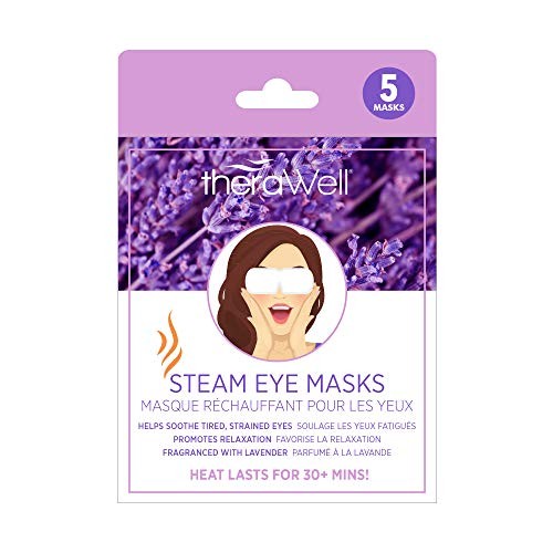 Therawell Warming Steam Eye Mask Infused, Lavender, 1 Count