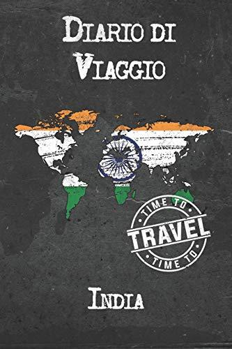 Diario di Viaggio India: 6x9 Diario di viaggio I Taccuino con liste di controllo da compilare I Un regalo perfetto per il tuo viaggio in India e per ogni viaggiatore