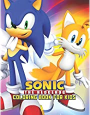 Sonic The Hedgehog Coloring Book For Kids: Sonic The Hedgehog Coloring Book Kids Girls Adults Toddlers (Kids ages 2-8) Unofficial 25 high quality illustrations Pages (8.5 x 11)