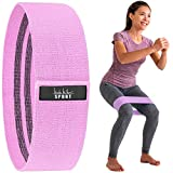 Nicole Miller Booty & Hip Resistance Band Women Sports Fitness Band for Squat Glute Hip Training Non-Slip Elastic Workout Bands Purple