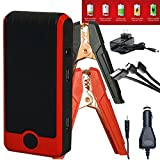 PowerAll XL2 Supreme 600A Portable 16,000 mAh Lithium Car Jump Starter with Power Bank, LED Flashlight and Carrying Case + New Titan Clamps and TUFF Carrying Case