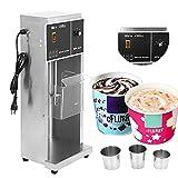 HOMIER Commercial Auto Blizzard Ice Cream Machine Electric Ice Cream Blizzard Maker Stainless Steel Ice Cream Shaker Blender Ice Cream Mixer Machine 350W 110V