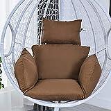 WAQIA Hanging Egg Chair Cushion, Swing Chair Cushion Thicken Egg Seat Cushion Indoor Outdoor Patio Hanging Egg Hammock Seat Cushion Hanging Basket Chair Cushions - Non-Slip& Washable