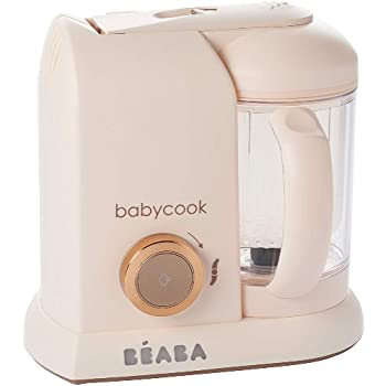 Béaba - Babycook Solo - 4-in-1 Baby Food Processer - Blender, Cooker and Steamer - Fast Steam Cooking - Delicious Homemade Food for Baby and Children - Food diversification for your Baby - Rose Gold