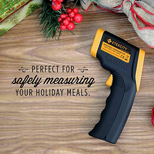 Etekcity Infrared Thermometer 774 (Not for Human) Temperature Gun Non-Contact for Cooking, Home Repairs, Maintenance -58℉ to 716℉ (-50℃ to 380℃), Yellow and Black