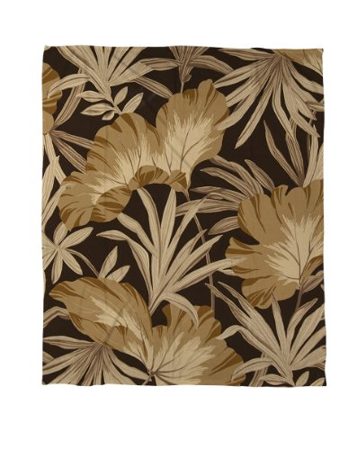Manual Woodworkers & Weavers Coral Fleece Throw Blanket, 50 by 60-Inch, Tonal Floral