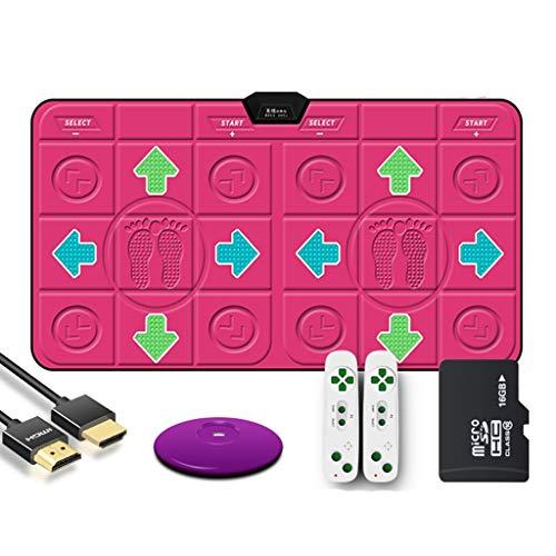 YYF Bonne Isolation Acoustique 18mmPU sans Fil Double Danse Blanket Computer TV à Double Usage Interface HDMI Accueil somatosensoriel Jeu de Course Dance Machine Doux (Color : Pink)