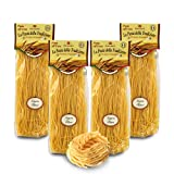 Brezzo Tallarines al Huevo | Pasta Italiana al Huevo | Pack de 4 x 250 Gramos