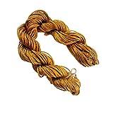 Perlin 30 Metros de Hilo de macramé 1 mm marrón Cuerda de Perlas Hilo de joyería Cuerda para DIY Cadena Pulsera Manualidades