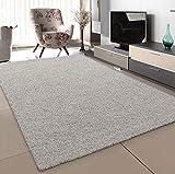 SANAT Teppich Wohnzimmer - Creme Hochflor Langflor Teppiche Modern, Größe: 200x290 cm