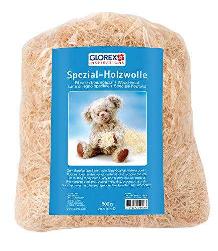 Glorex 0 2544 50 - Holzwolle, 500 g, feine Qualität, kein Tropenholz, zum Befüllen von Teddys und Kuscheltieren