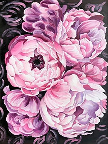5d DIY diamante bordado peonía diamante pintura conjunto de cuentas mosaico flor aguja imagen hecha a mano diamante pintura A1 30x40 cm