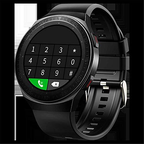 hwbq Reloj inteligente para 1.28 'compatible con teléfonos impermeables para mujeres y hombres con 8G Memory Music Rojo-Negro