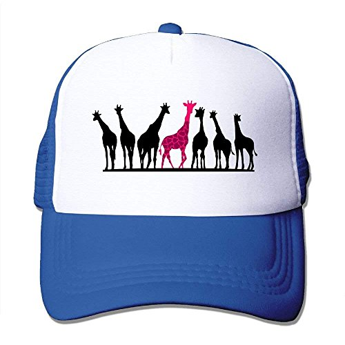 Gkoushixishiqumoxish - Gorra unisex con diseño de jirafa, color negro